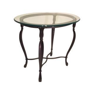 Dark Bronze Glass Top Side Table