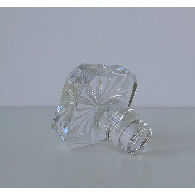 Glass Square Cut Beveled Decanter Top - Image 3 of 8