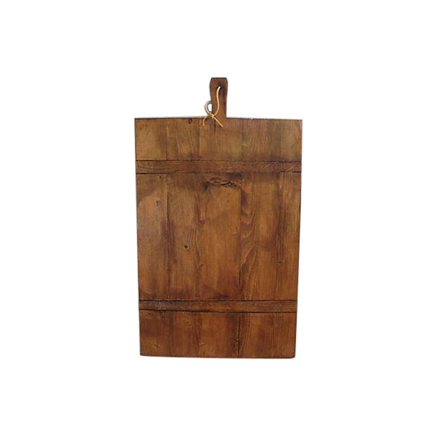 Large Antique French Bread Cutting Culinary Board - Image 1 of 5