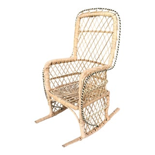 Rattan Peacock Chair Plant Holder