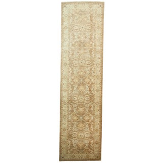 Traditional Hand Knotted Runner - 3' X 11'1""