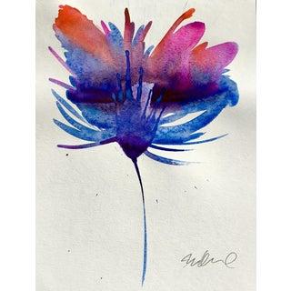'Ultramarine Feather' Botanical Painting
