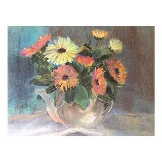 Pastel Floral Still Life by Eleanor De Haas