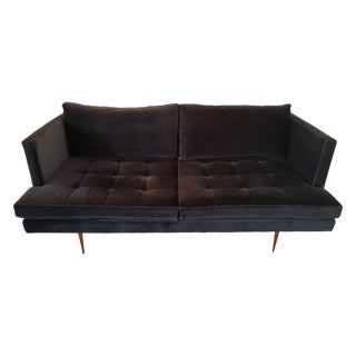 HD Buttercup Siena Black Velvet Couch