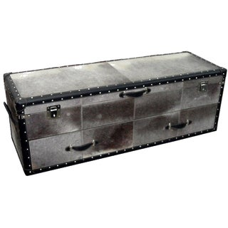 Black & White Calf Hair Leather Trunk