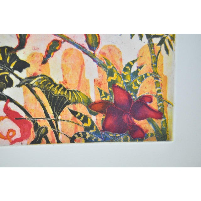 'Tropical Parrot' Colorful Monoprint - Image 8 of 8