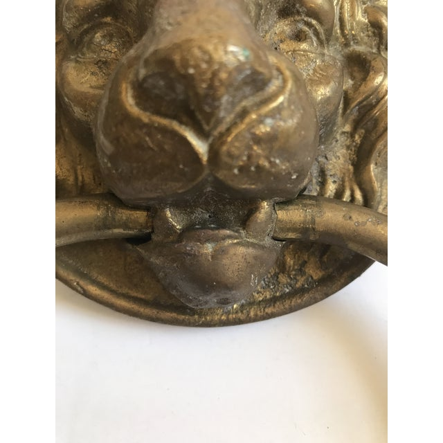 Antique Lion Head Door Knocker - Image 7 of 8