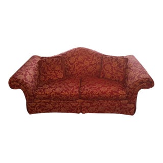 Red & Gold Formal Sofa