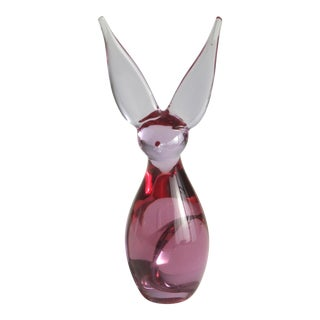 Mid-Century Modern Studio Glass Rabbit