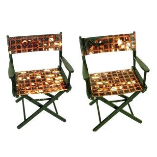 Modern Director Chairs - A Pair