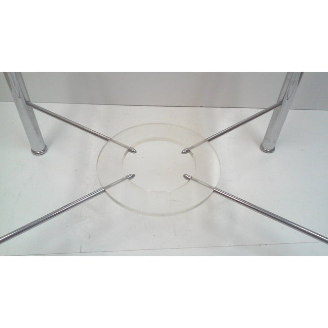 Image of Chrome and Lucite Side Table