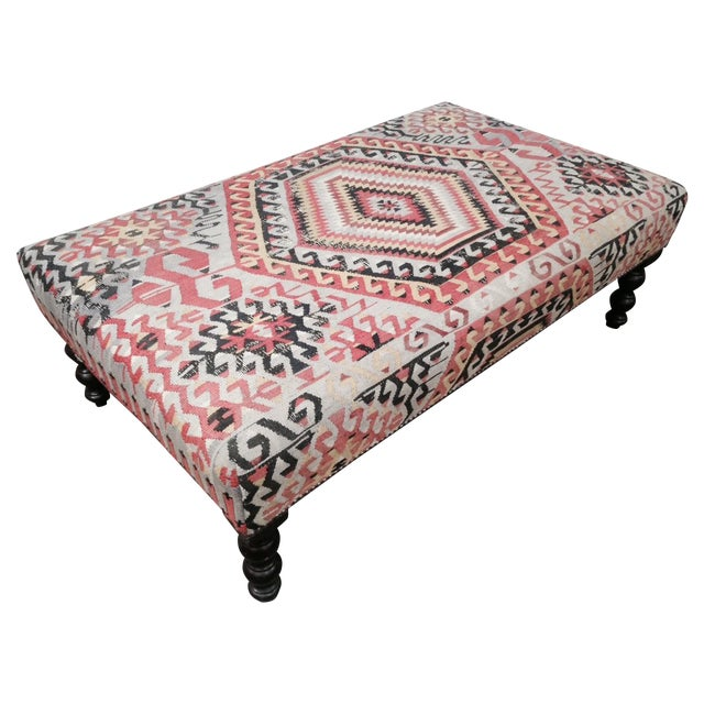 George Smith Boho Chic Kilim Ottoman - Image 1 of 10