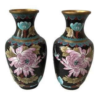 Large Cloisonné Vases - Pair
