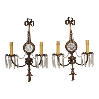 1920s French Mirrored Sconces - A Pair