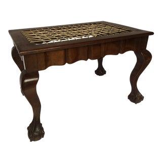 Hand Carved Mahogany Bench