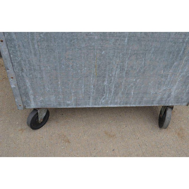 Bar on Wheels / Potting Table / Plant Stand from Galvanized Vet Exam Table - Image 4 of 10