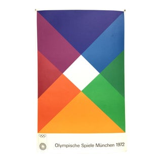 Max Bill Signed 1972 Munich Olympic Poster