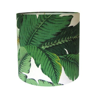 Tropical Swaying Palms Aloe Drum Lamp Shade