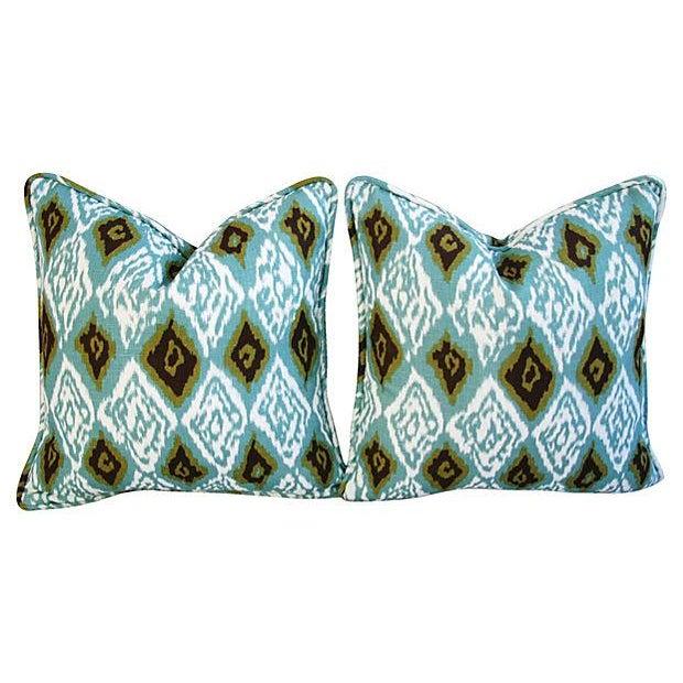 Custom Eaton Square Firebird Linen Pillows - Pair - Image 7 of 7
