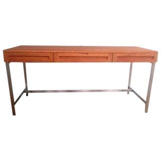 Jesper Cherry Woodland Desk With Steel Legs