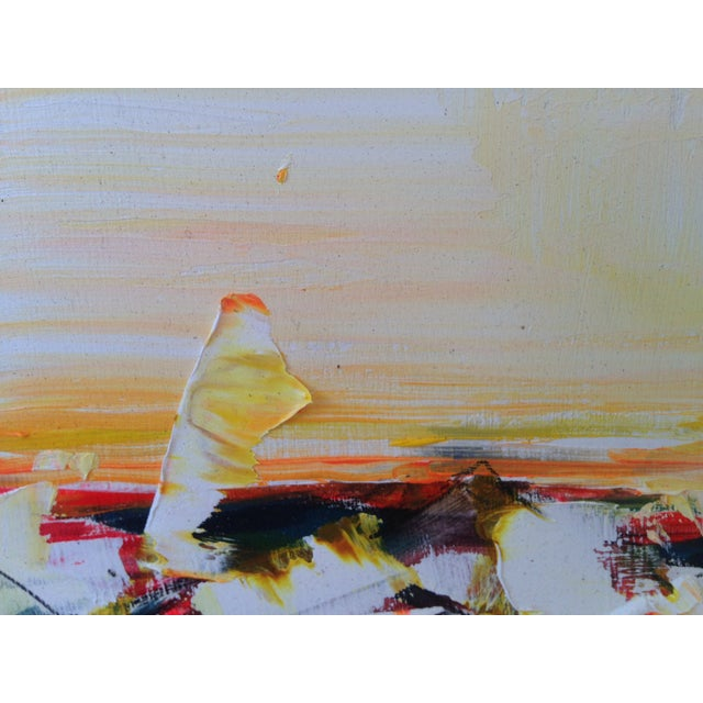 Image of Abstract 'Sardine Can' Oil Painting