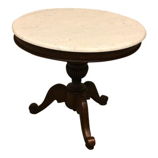 Marble Top Round Side or Center Table
