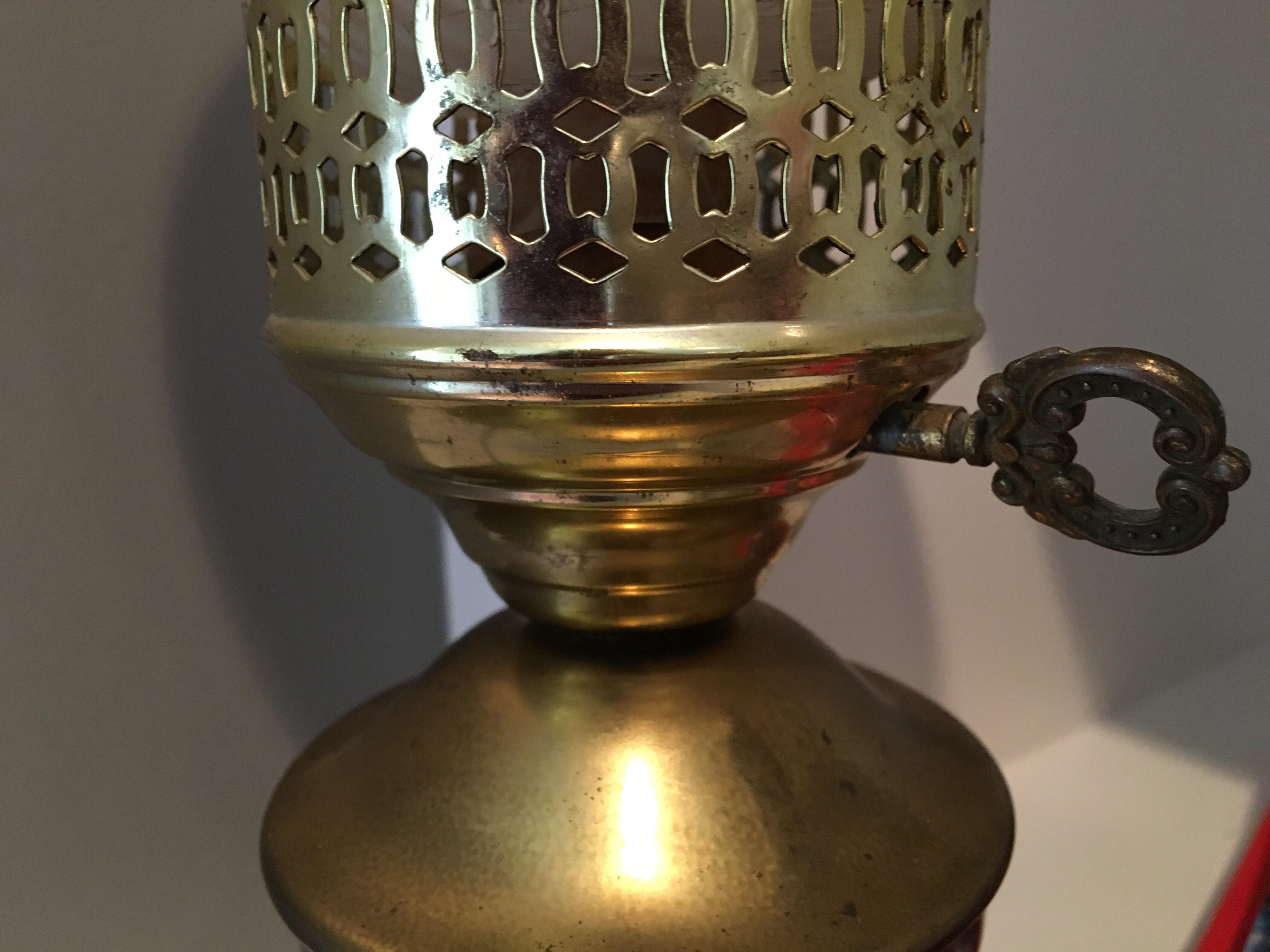 Vintage Brass Torch Table Lamp   Image 6 Of 6
