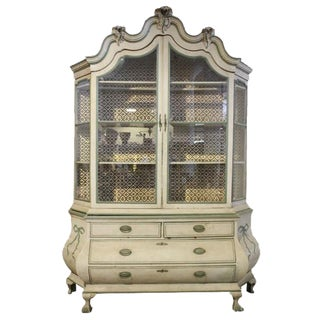 Continental Painted Bombe Cabinet