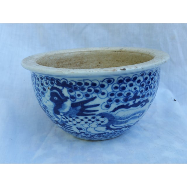 Image of Hand Painted Rustic Cache Pot