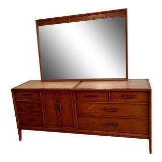 Drexel Mid-Century Meridian Triple Dresser & Mirror