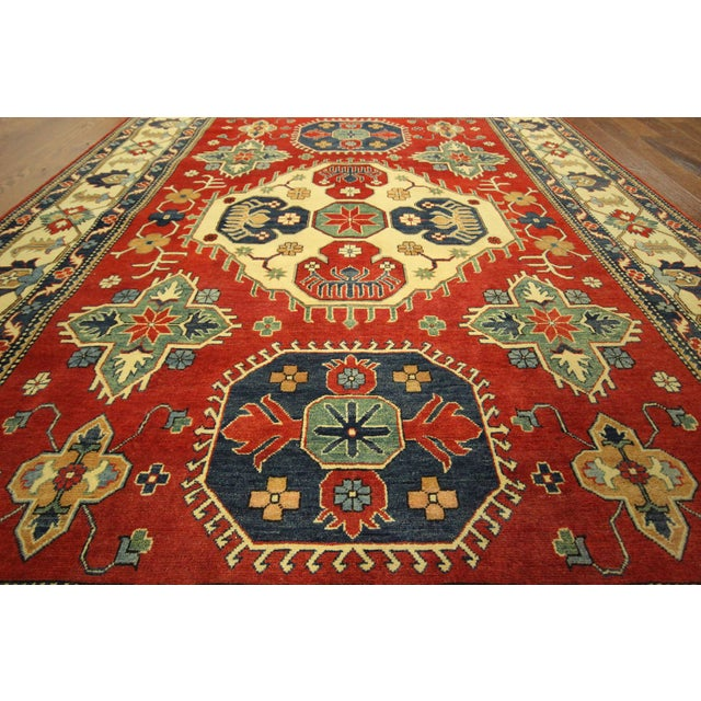 Traditional Super Kazak Rug Red- 8' x 11' - Image 5 of 11