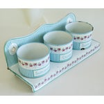 Image of Antique 1930s French Enamelware Laundry Soap Rack