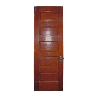 Five Panel Oak Old Door With Hardware