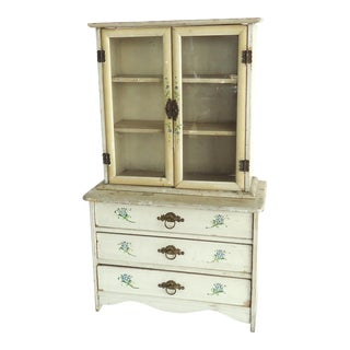 Victorian Antique Miniature China Cabinet