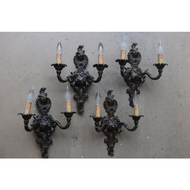 Image of Italian Wall Sconces - Set of Four