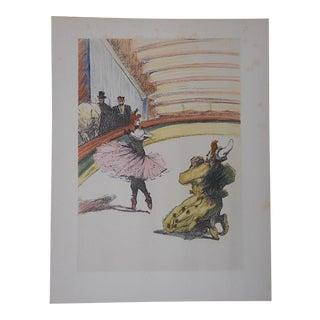 Vintage Toulouse Lautrec Lithograph, The Circus
