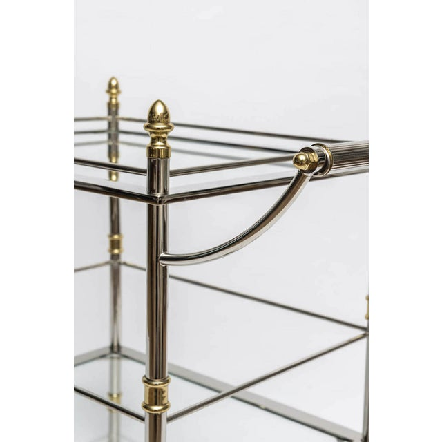 Nickel and Brass Bar/Serving Cart - Image 5 of 5