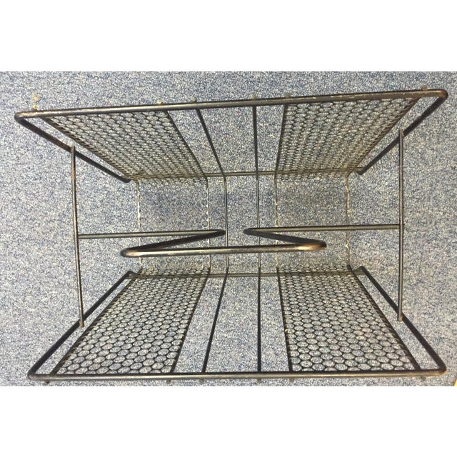 Vintage Atomic Wire Mesh Magazine Rack - Image 5 of 5