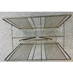 Image of Vintage Atomic Wire Mesh Magazine Rack