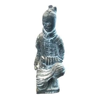 Asian Samurai Decorative Figure Kneeling Figurine