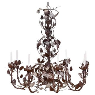 French Tole Vinework Chandelier