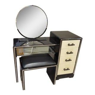 Norman Bel Geddes Art Deco Vanity Dressing Table