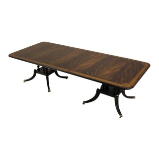 Maitland-Smith Regency Mahogany Double-Pedestal Table