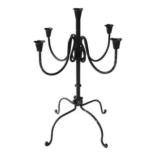 Antique Spanish Wrought Iron Candleabra