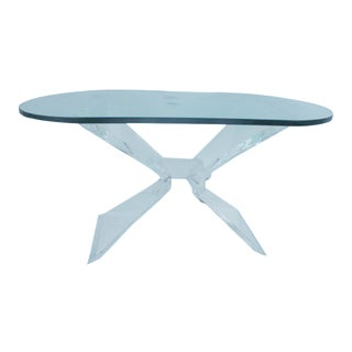 Mid-Century Butterfly Lucite Console or DeskTable