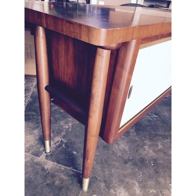 Mid-Century Modern Credenza Buffet Console Floating Top Legs - Image 9 of 10