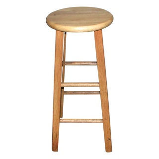 Plain Solid Wooden Kitchen Stool