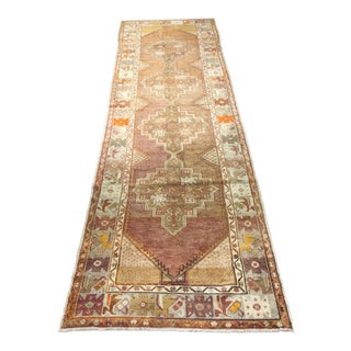 Turkish Oushak Vintage Runner - 3' X 9'9""