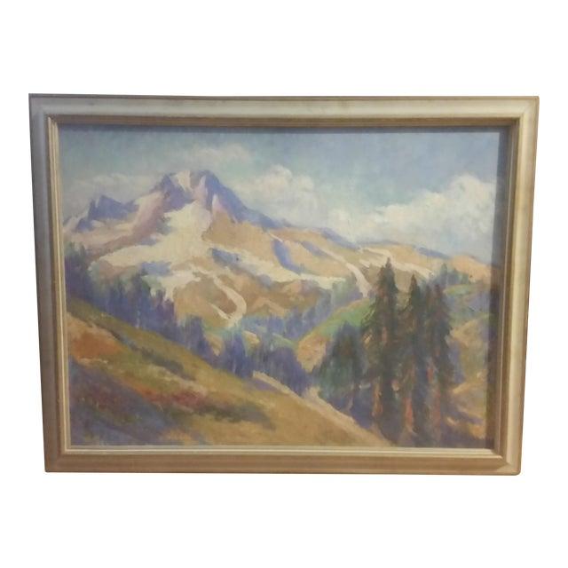 Oregon Impressionist Oil Painting of Mt. Hood - Image 1 of 8