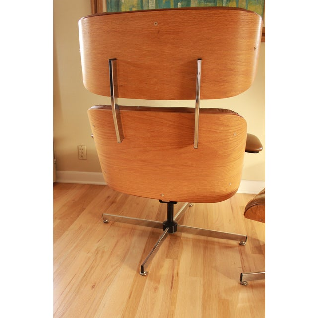Eames Style Selig Chair & Ottoman, 1975 - Image 4 of 10